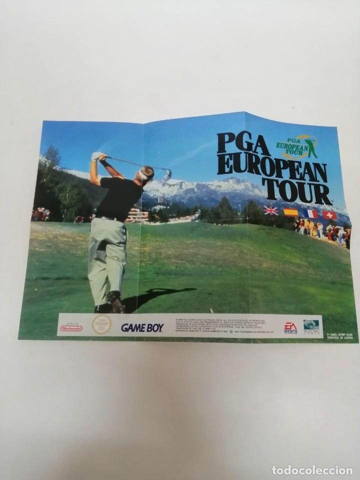 POSTER JUEGO GAME BOY PGA GOLF (Juguetes - Videojuegos y Consolas - Nintendo - GameBoy)