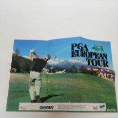 Videojuegos y Consolas: POSTER JUEGO GAME BOY PGA GOLF. Lote 244841740