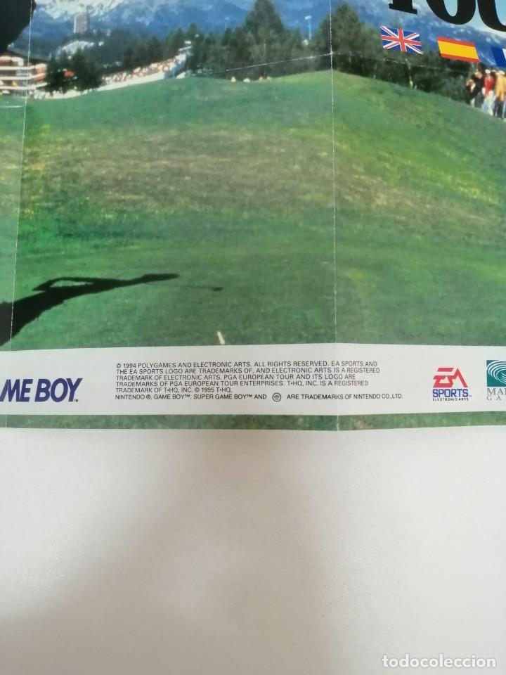 Videojuegos y Consolas: POSTER JUEGO GAME BOY PGA GOLF - Foto 2 - 244841740