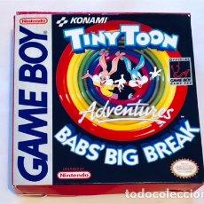Videojuegos y Consolas: TINY TOON ADVENTURES – BABS BIG BREAK [KONAMI 1992] [DMG-TX-NOE] [NINTENDO GAMEBOY] CAJA REPRO. Lote 246947735