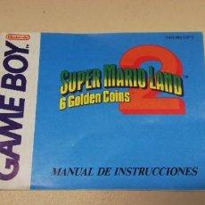 Videojuegos y Consolas: MANUAL SUPER MARIO LAND 6 GOLDEN COINS ESPAÑOL GAME BOY. Lote 251805970