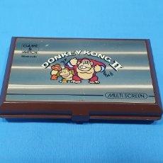Videojuegos y Consolas: MAQUINITA - GAME & WATCH DE NINTENDO - DONKEY KONG II - MULTI SCREEN. Lote 254496555