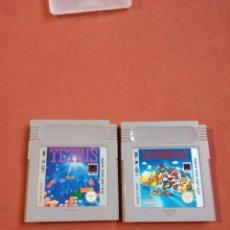 Videojuegos y Consolas: DOS CARTUCHOS NINTENDO TETRIS Y SUPERMARIOLAND. Lote 255437905