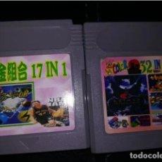 Videojuegos y Consolas: 17 EN 1 Y 32 EN 1 2 JUEGOS GAME BOY. Lote 255499530