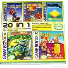 Videojuegos y Consolas: MULTIJUEGOS GAMEBOY COLOR 20 IN 1 CLÓNICO NUEVO. Lote 267393779