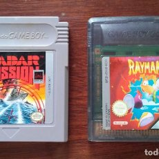 Videojuegos y Consolas: LOTE 2 JUEGOS NINTENDO GAMEBOY CLÁSICOS. RAYMAN & RADAR MISSION. Lote 268167199