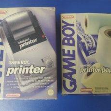 Videojuegos y Consolas: LOTE IMPRESORA GAMEBOY + PAPEL GAMEBOY GAMEBOY PRINTER + PRINTER PAPEL EN CAJA ORIGINAL. Lote 269276208
