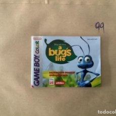 Videojuegos y Consolas: H1. MANUAL GAMEBOY BICHOS GAMEBOY COLOR. Lote 269724353