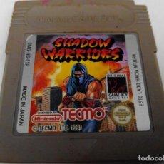 Videojuegos y Consolas: SHADOW WARRIORS GAME BOY NINTENDO. Lote 275615768