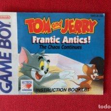 Videogiochi e Consoli: INSTRUCCIONES DEL JUEGO TOM AND JERRY FRANTIC ANTICS THE CHAOS CONTINUES DE GAMEBOY. Lote 276280758