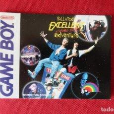 Videogiochi e Consoli: INSTRUCCIONES DEL JUEGO BILL & TED´S EXCELLENT ADVENTURE DE GAMEBOY. Lote 276281513