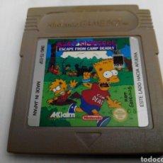 Videojuegos y Consolas: BART SIMPSON ESCAPE FROM CAMP DEADLY GAME BOY. Lote 276422383