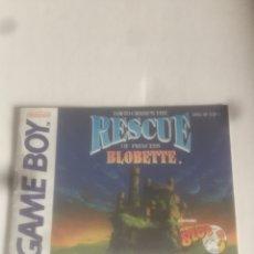 Videojuegos y Consolas: GAME BOY: LIBRETO RESCUE OF PRINCESS BLOBETTE. Lote 277124713