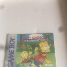 Videojuegos y Consolas: GAME BOY: LIBRETO BART SIMPSON. Lote 277125058