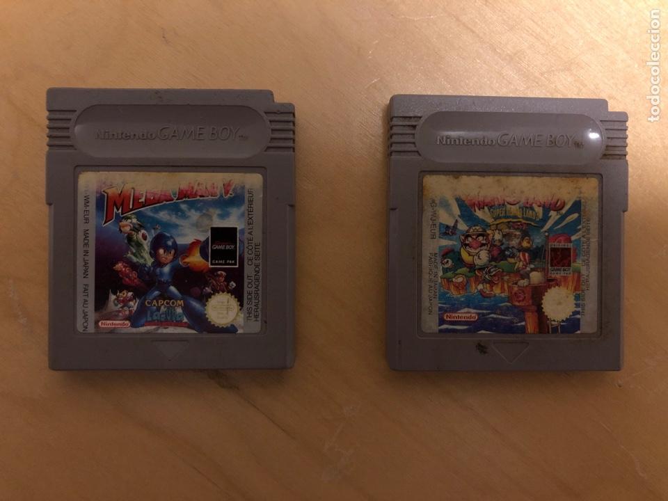2 JUEGOS GAME BOY MEGAMAN V Y SÚPER MARIO LAND 3(WARIO LAND) (Juguetes - Videojuegos y Consolas - Nintendo - GameBoy)