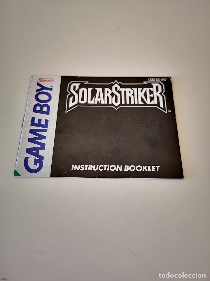 SOLAR STRIKER GAME BOY MANUAL DE INSTRUCCIONES NINTENDO SOLARSTRIKER JUEGO CARTUCHO CONSOLA (Juguetes - Videojuegos y Consolas - Nintendo - GameBoy)