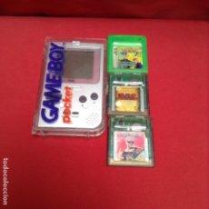 Videojuegos y Consolas: GAME BOY POCKET , CON 3 JUEGOS , TODO PROVADO. Lote 287652583