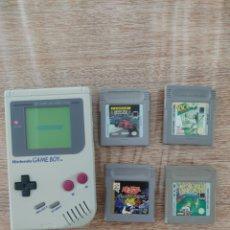 Videojuegos y Consolas: LOTE GAME BOY DMG Y 4 JUEGOS - GAMEBOY CLASICA - FUNCIONA A LA PERFECCION. Lote 288366468