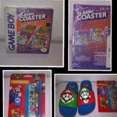 Videojuegos y Consolas: LOTE GAME BOY Y MARIO SIN ABRIR (SET ESCRITORIO Y POSAVASOS ZELDA, DONKEY...). Lote 288581863