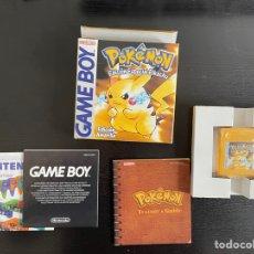 Videojuegos y Consolas: GAME BOY POKEMON EDICIÓN AMARILLA COMPLETO. Lote 289303898