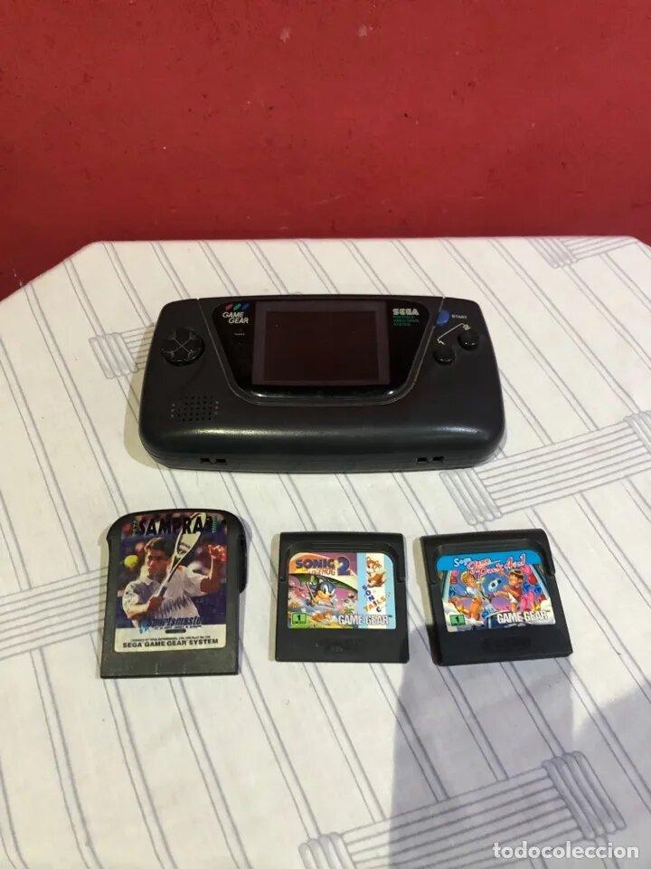 RARA CONSOLA GAME GEAR CON 3 JUEGOS (Juguetes - Videojuegos y Consolas - Nintendo - GameBoy)