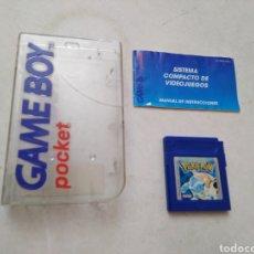 Videogiochi e Consoli: LOTE DE GAME BOY ( JUEGO DE POKEMON + MANUAL DE INSTRUCCIONES GAME BOY POCKET + CAJA METACRILATO. Lote 293608493