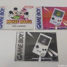 Videojuegos y Consolas: 3 MANUALES GAMEBOY NINTENDO GAME BOY. Lote 294112278