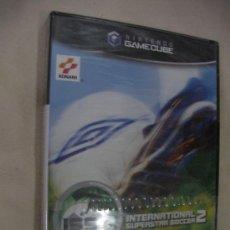 Videojuegos y Consolas: ANTIGUO JUEGO PARA NINTENDO GAMECUBE INTERNATIONAL SUPERSTAR SOCCER 2 NUEVO SIN USAR PRECINTADO. Lote 32283214
