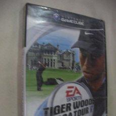 Videojuegos y Consolas: ANTIGUO JUEGO PARA NINTENDO GAMECUBE TIGER WOODS PGA TOUR NUEVO SIN USAR PRECINTADO. Lote 32283240