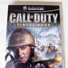 Videojuegos y Consolas: CALL OF DUTY FINEST HOUR PARA NINTENDO GAMECUBE - MANUAL EN CASTELLANO SOFTWARE EN INGLES. Lote 43577110