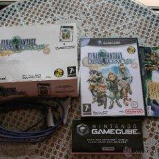Videojuegos y Consolas: FINAL FANTASY CRYSTAL CHRONICLES GAMECUBE COMPLETO CAJA GRANDE PAL ESPAÑA. Lote 43635645
