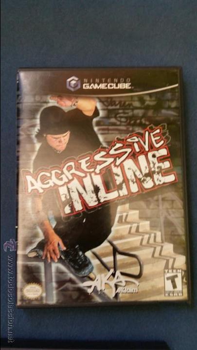 JUEGO DE NINTENDO GAMECUBE NGC AGRESSIVE INLINE SKATEBOARD ORIGINAL COMPLETO (VERSIÓN AMERICANA NTSC (Juguetes - Videojuegos y Consolas - Nintendo - Gamecube)