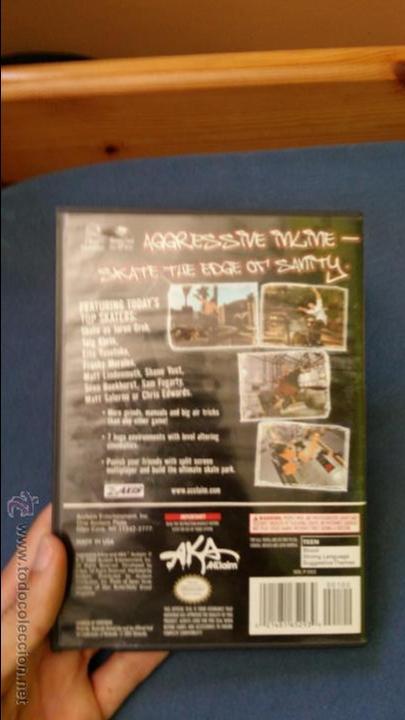 Videojuegos y Consolas: Juego de nintendo gamecube ngc agressive inline skateboard original completo (versión americana NTSC - Foto 3 - 51068745