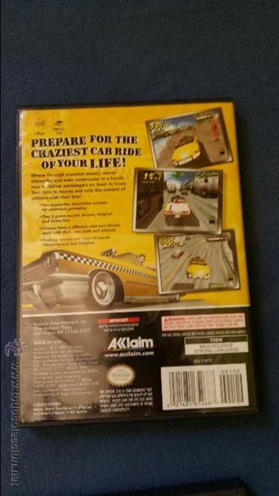 Videojuegos y Consolas: Juego de nintendo gamecube ngc top Crazy taxi original completo (versión americana NTSC) - Foto 3 - 51068768