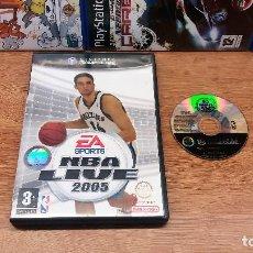 Videojuegos y Consolas: JUEGO NINTENDO GAMECUBE NBA LIVE 2005-FUNCIONANDO-ED.ESPAÑOL-PAL. Lote 63256560
