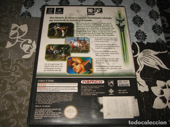 Videojuegos y Consolas: SOUL CALIBUR II NINTENDO GAMECUBE PAL ESPAÑA COMPLETO - Foto 2 - 67239585