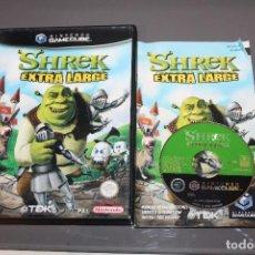 Videojuegos y Consolas: SHREK EXTRA LARGE NINTENDO GAMECUBE ORIGINAL CON CAJA E INSTRUCCIONES. Lote 76191759