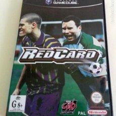 Videojuegos y Consolas: RED CARD PAL DE ESPAÑA GAMECUBE GAME CUBE. Lote 83380244