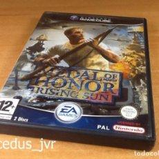 Videojuegos y Consolas: MEDAL OF HONOR RISING SUN JUEGO PARA NINTENDO GAMECUBE GAME CUBE PAL DISCO 1. Lote 94613587