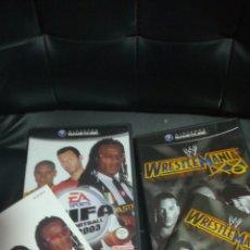 Videojuegos y Consolas: LOTE 2 JUEGOS GAMECUBE, FIFA 2003, WRESTLEMANIA X8, PAL UK. Lote 117731271