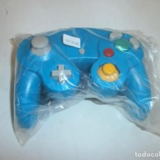 Videojuegos y Consolas: MANDO COMPATIBLE NINTENDO GAMECUBE COLOR AZUL NUEVO. Lote 119036515