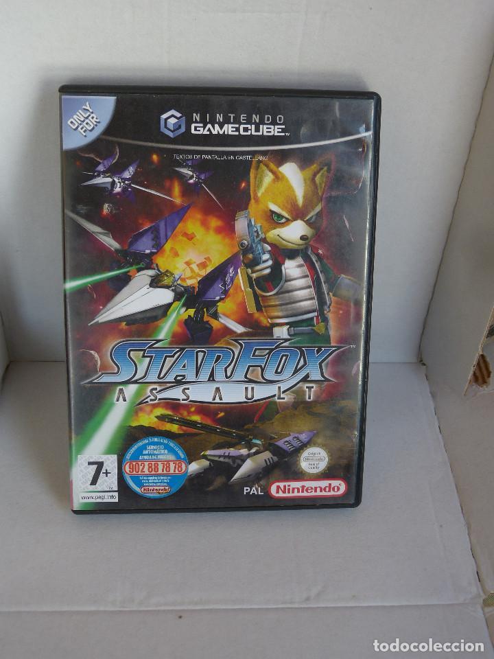 STARFOX ASSAULT (PAL ESPAÑA COMPLETO) DIFÍCIL (Juguetes - Videojuegos y Consolas - Nintendo - Gamecube)