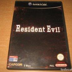 Videojogos e Consolas: RESIDENT EVIL 1 TERROR AL CUBO GAMECUBE PAL ESPAÑA COMPLETO 2 DISCOS. Lote 130615034