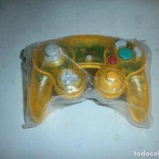 Videojuegos y Consolas: MANDO COMPATIBLE NINTENDO GAMECUBE AMARILLO TRANSPARENTE NUEVO. Lote 144731728