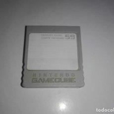Videogiochi e Consoli: NINTENDO GAMECUBE TARJETA DE MEMORIA ORIGINAL MEMORY CARD . Lote 157230952