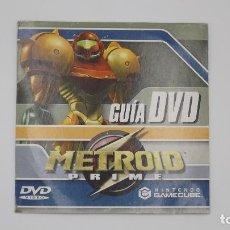 Videojuegos y Consolas: METROID PRIME GUIA DVD NINTENDO GAMECUBE. Lote 145241542