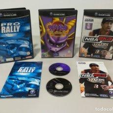 Videojuegos y Consolas: LOTE GAME CUBE SPYRO IKARUGA RALLY PRO NBA. Lote 147337502