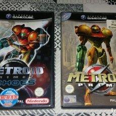 Videojuegos y Consolas: 2 JUEGOS METROID PRIME 1 Y ECHOES 2 GAMECUBE PAL ESPAÑA . Lote 156324210