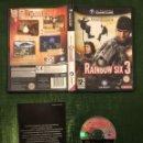 Videojuegos y Consolas: RAINBOW SIX 3 GAMECUBE SIN MANUAL!!. Lote 160430370