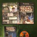 Videojuegos y Consolas: STAR WARS REBEL STRIKE: ROGUE SQUADRON III GAMECUBE COMPLETO!!!. Lote 160430382